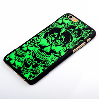 Green skull designs for mobile phone case,custom case for phone case,ODM/OEM case made in China