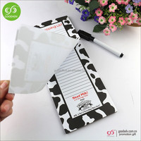 OEM design print Shopping List pad Fridge Magnetic Memo Pad