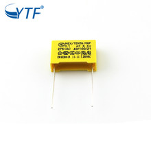 hot selling electronic circuit box capacitor 0.1uf x2 275v polyester film capacitor in stock