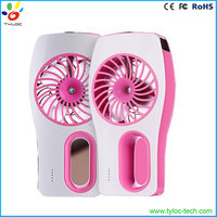 Portable handheld air fresher humidifier water air cooling mist spray fan