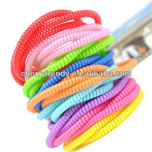 New Arrival Three Wrap Solid Colors Thin Phone Wire Bands Hair Accessories For iPhone Data Cord