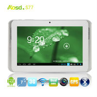 Aosd High Quality 7 inch android tablet with built-in 3G MTK6572/3G/GPS/BT/FM/OTG/HD Best Google android gift tablet PC S77