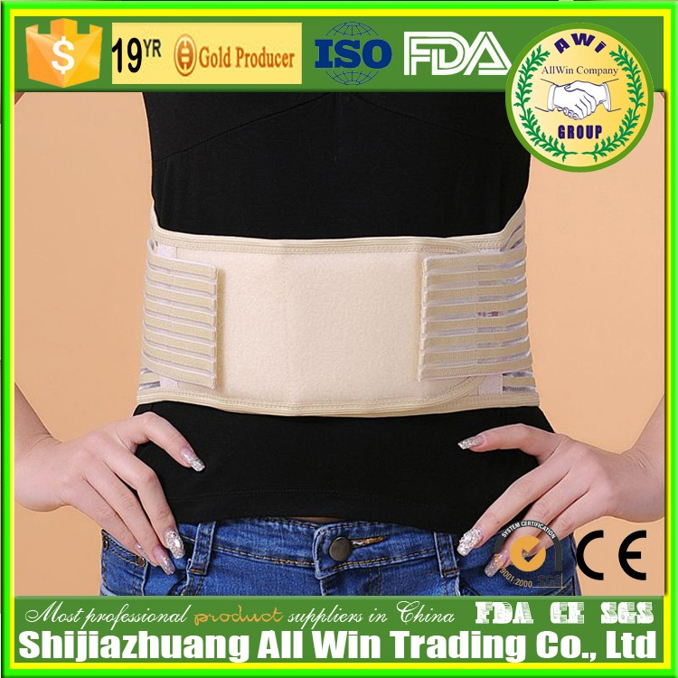 leather laced up high quality black color man and women medical waist support