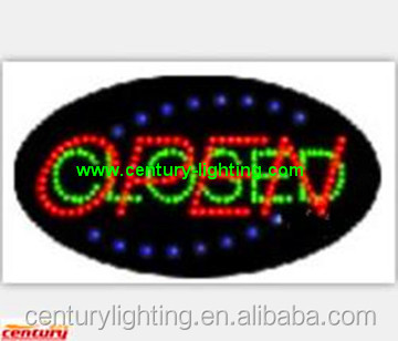 oval open closed animated led sign