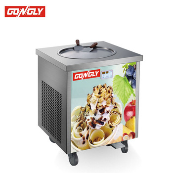 hot sale  items floor stand soft server flat pan fried ice cream machine