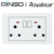 Royalstar Electrical 10mm 2*MF Switched with Neon USB Tester Socket