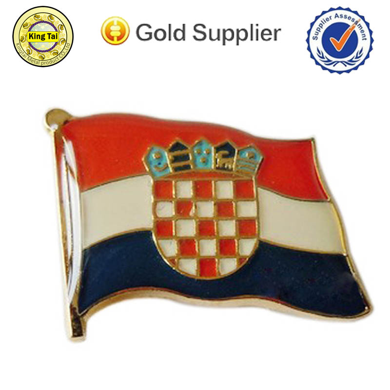 high quality cheap promotional brass custom metal uae badge for gift