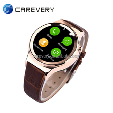 Waterproof smart watch with gsm sim card slot, touch screen smart watch cell phone, round watch