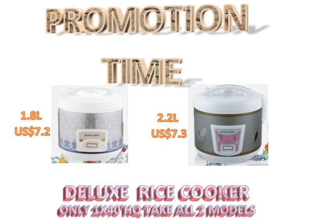 Factory stock 1.8L and 2.2L rice cooker China Supplier Popular Style with iron inner pot