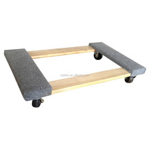 HW7646 4x3'pp Casters Hardwood furniture mover dolly