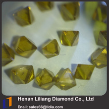 China Manufacturer Industrial Yellow Synthetic Diamond Stone/1mm~3mm Sharp Point Diamond Price for Sale