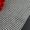 24rows 12cm X10yards diamond mesh roll, diamante wrap for floral display, wedding diamond trims