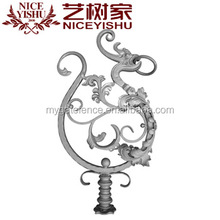 decorative customized american hot sale wrought iron dragon for fence decoration