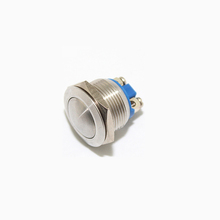 BIHU 16mm Anti-Vandal Momentary metal push button Switch Raised top for Box Mods