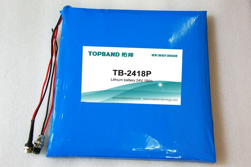 TOPBAND 24V LiFeO4 lithium battery 24V 18Ah with PCM