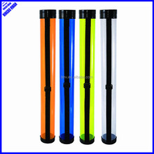 660mm transparent clear plastic student drawing tube