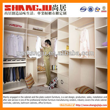 white PVC bedroom wardrobe malamine board