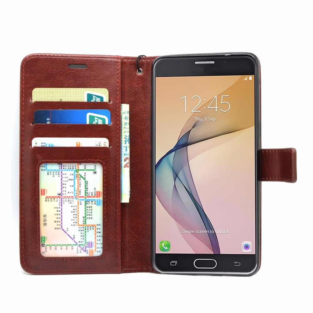 for Samsung Galaxy J7 Prime case 2017 New Flip Leather business wallet case