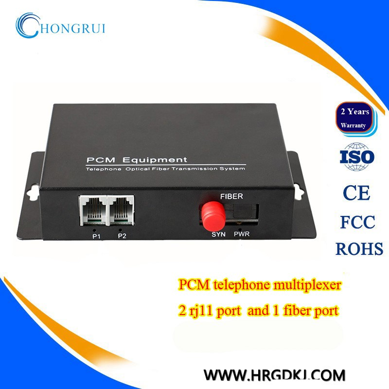 Most popular rj11 port 2 channel telephone line multiplexer/ethernet to telephone converter