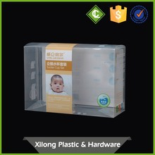 Custom Super Quality clear plastic pp automatic-lock bottom folding package box
