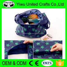 Cheap promotional recycled polyester foldable shopping bag