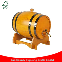 Custom Free shipping 1.5L cask oak red pine keg cask Home Brewing inner tant Yellow color Wood Barrel