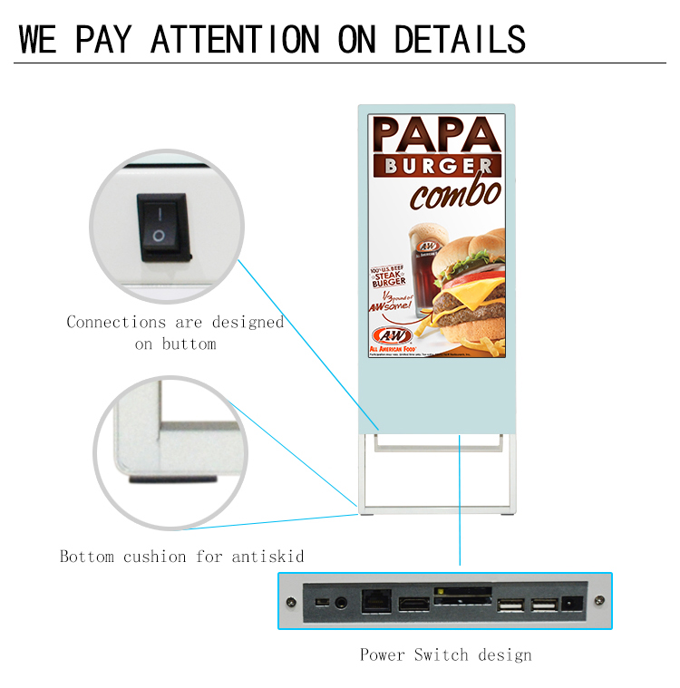 43 inch indoor standalone led internet advertising digital signage player for hospital tft monitor