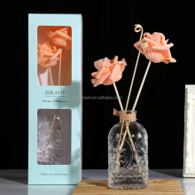Various Colors Room Flower Fragrance Diffuser with 200ml Glass Bottle