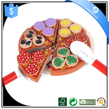 High quality wooden pizza play house christmas educational toys for kids
