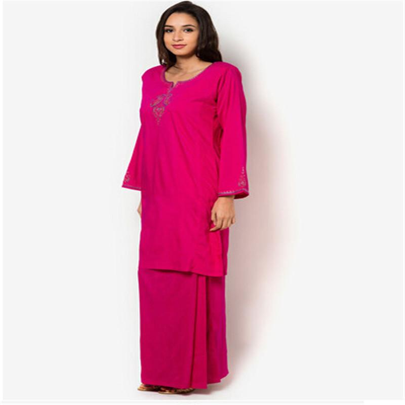 2016 Malaysia New Design 2 Layer Chiffon Model Baju Kurung