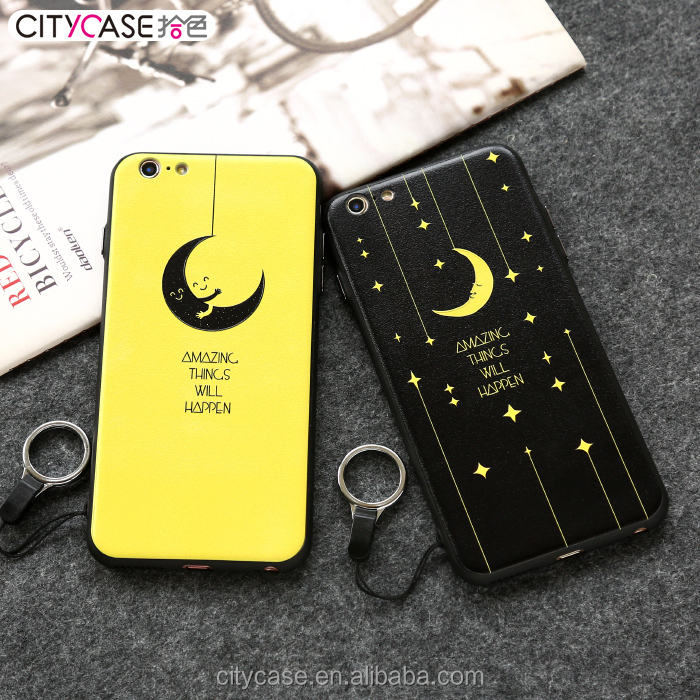 OEM Print 3D Embossed Mobile phone Back for iphone 6 6S 6Plus Print with beautiful Moon