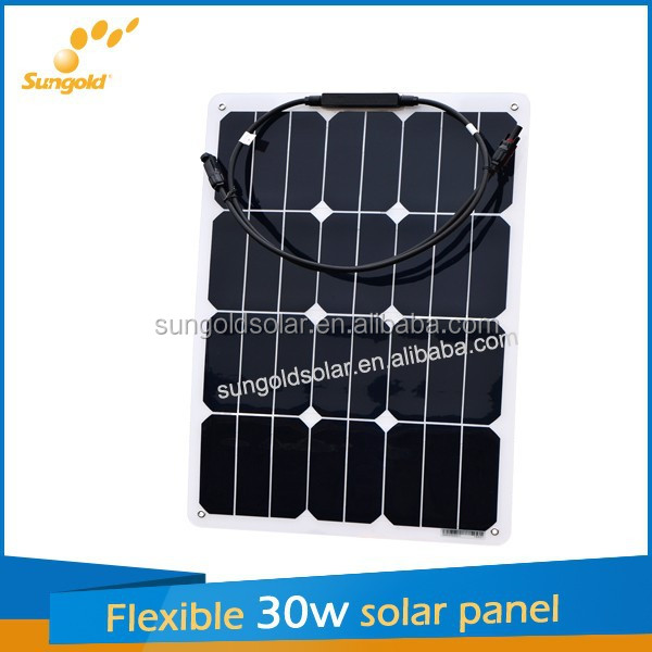 2016 flexible small solar panels 30w for toys