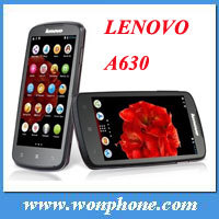 Cheap wholesale 4.5'' Lenovo A630 dual core MTK6577 3g wcdma phone android 4.0 512MB RAM 4GB ROM Russian support