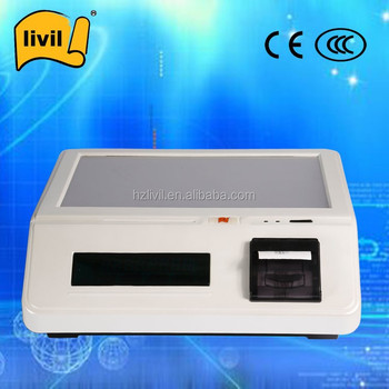 pos system with Printer/barcode scanner/WIFI/RFID reader