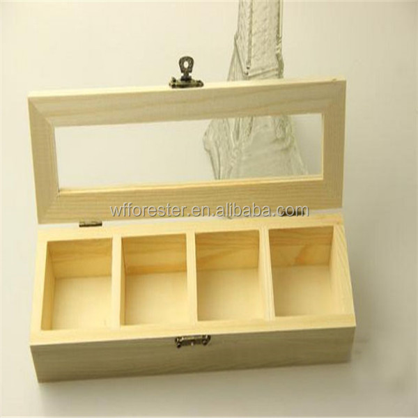 wholesale natural unfinished wood craft box