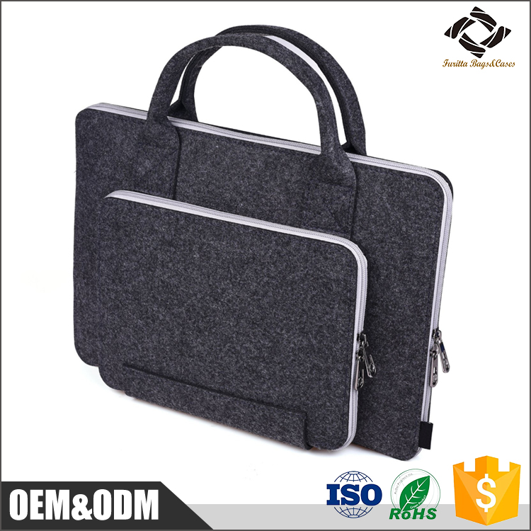 Eco-friendly RoHs approved multifunctional 3.5MM Wool felt Material Laptop case/ bag for MacBook