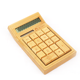 Promotion gifts 12 digit dual power bamboo calculator