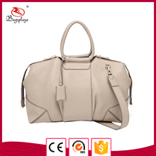Alibaba china handbag ladies off-white leather leather travel bag