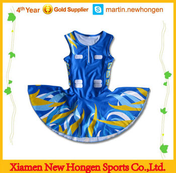 100%Polyester lycra sublimation women's Netball skirts
