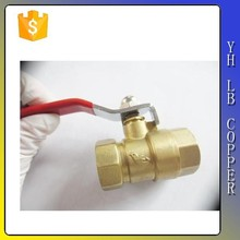 "Red Plastic Coated Metal Lever 1/4""PT Thread M/F Brass Ball Valve"