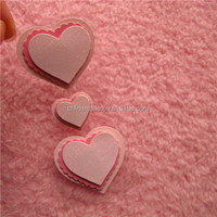 Flocking 3D stickers for kids big heart