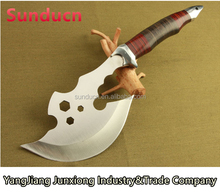 440 Stainless Steel Blade Wooden Handle Satin Finish Hatchet Broad Axe