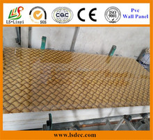 Low price good quality insulated pvc wall panel/plastic board decoration