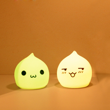waterdrop cute design led nightlight soft silicone kids lamp decoration lamp