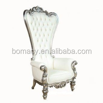 Bomacy-used banquet chairs/luxury white wedding chairs/cheap king throne pedicure chair for sale