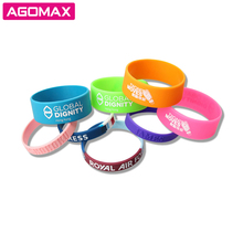 FREE SAMPLE Debossed color filled rubber wrist bands cheap bracelet custom silicone