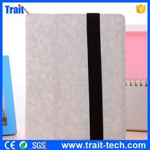 Elastic Belt Side Flip Stand PU Leather Case for iPad 4 iPad 2 The New iPad with Shoulder Strap