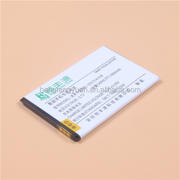 GB/T 18287-2013 mobile phone battery BL-203 2000mah 5v nicd rechargeable battery pack support