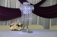 chandelier table centerpiece with led use at wedding and event
