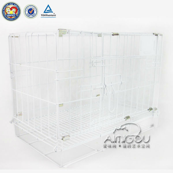 QQPET White indoor Iron dog cage,dog carrier,